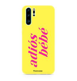 FOONCASE Huawei P30 Pro - Adiós Bébé ☀ / Geel & Roze