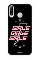 FOONCASE Huawei P30 Lite hoesje TPU Soft Case - Back Cover - Rebell Girls (sterretjes bliksem girls)