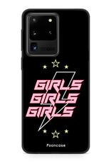 FOONCASE Samsung Galaxy S20 Ultra hoesje TPU Soft Case - Back Cover - Rebell Girls (sterretjes bliksem girls)