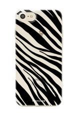 FOONCASE iPhone SE (2020) hoesje TPU Soft Case - Back Cover - Zebra print