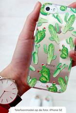 FOONCASE iPhone SE (2020) hoesje TPU Soft Case - Back Cover - Cactus