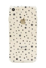 FOONCASE iPhone SE (2020) hoesje TPU Soft Case - Back Cover - Stars / Sterretjes