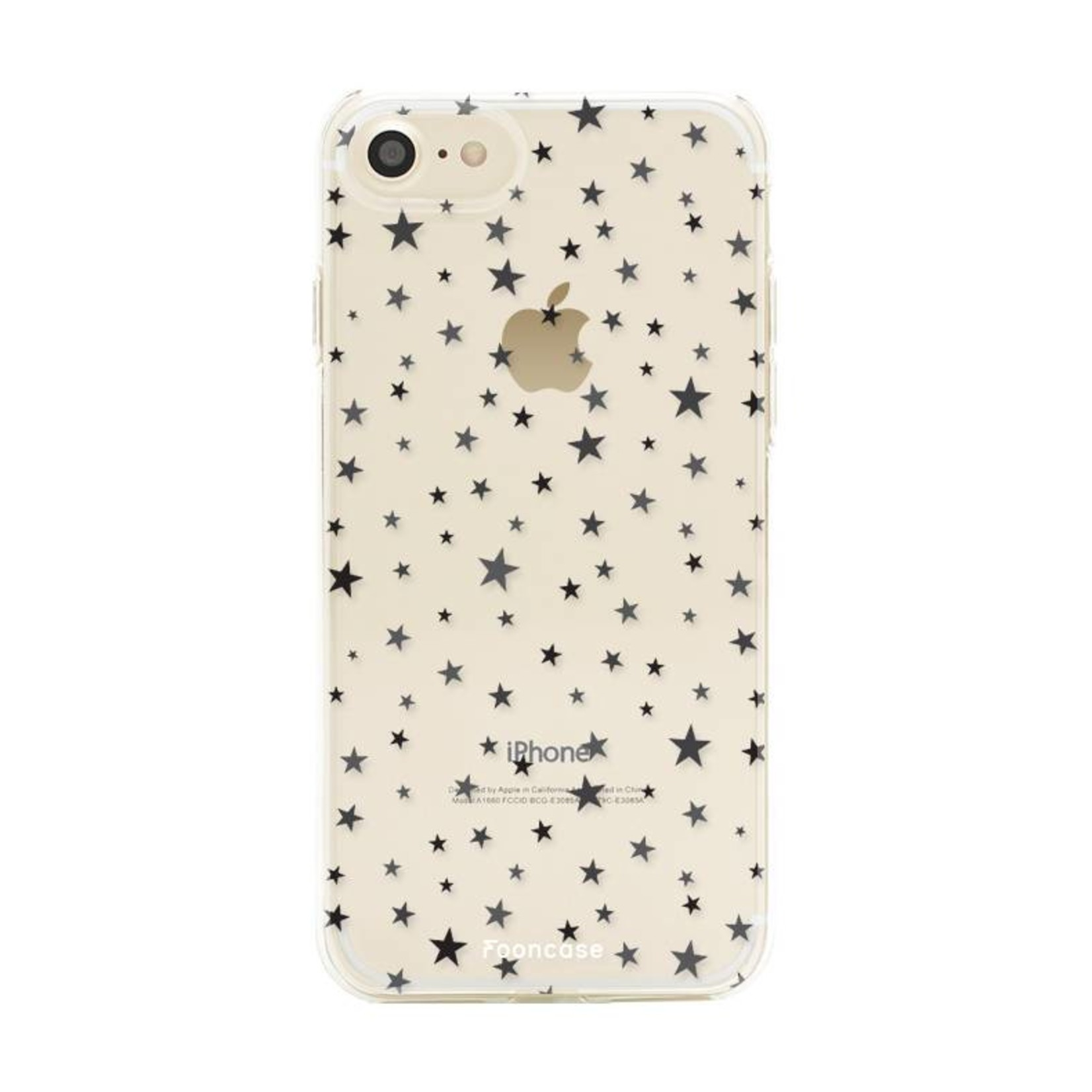 FOONCASE iPhone SE (2020) hoesje TPU Soft Case - Back Cover - Stars / Sterretjes