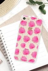 FOONCASE iPhone SE (2020) Handyhülle - Rosa Blätter