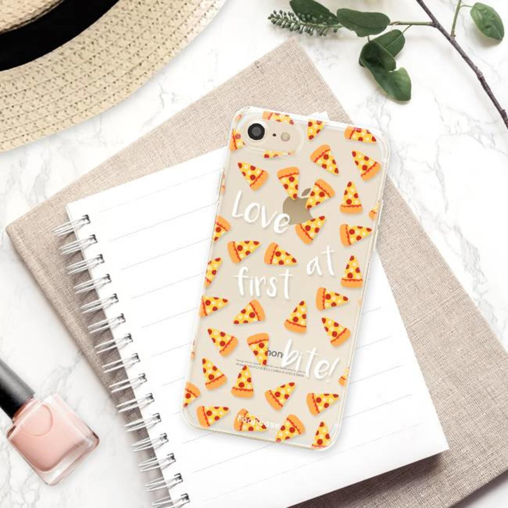 FOONCASE iPhone SE (2020) hoesje TPU Soft Case - Back Cover - Pizza / Food