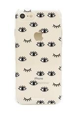FOONCASE iPhone SE (2020) hoesje TPU Soft Case - Back Cover - Eyes / Ogen