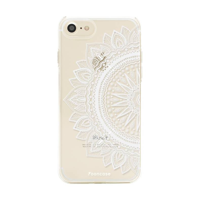 FOONCASE iPhone SE (2020) hoesje TPU Soft Case - Back Cover - Mandala / Ibiza