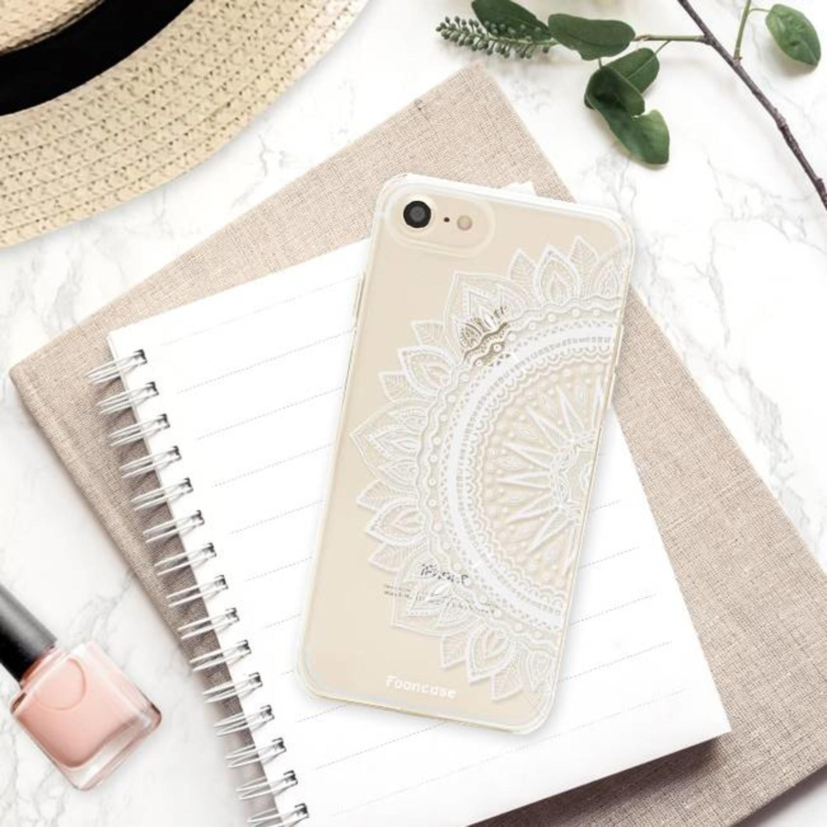 FOONCASE iPhone SE (2020) hoesje TPU Soft Case - Back Cover - Mandala / Ibiza