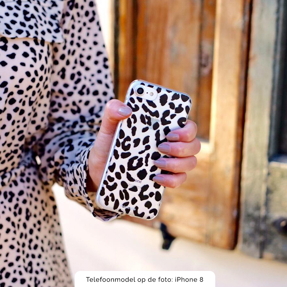 FOONCASE iPhone SE (2020) hoesje TPU Soft Case - Back Cover - Luipaard / Leopard print