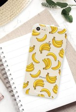 FOONCASE iPhone SE (2020) hoesje TPU Soft Case - Back Cover - Bananas / Banaan / Bananen