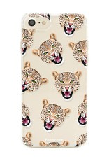 FOONCASE iPhone SE (2020) hoesje TPU Soft Case - Back Cover - Cheeky Leopard