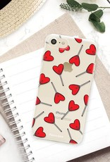 FOONCASE iPhone SE (2020) hoesje TPU Soft Case - Back Cover - Love Pop