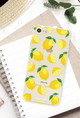 FOONCASE iPhone SE (2020) hoesje TPU Soft Case - Back Cover - Lemons / Citroen / Citroentjes
