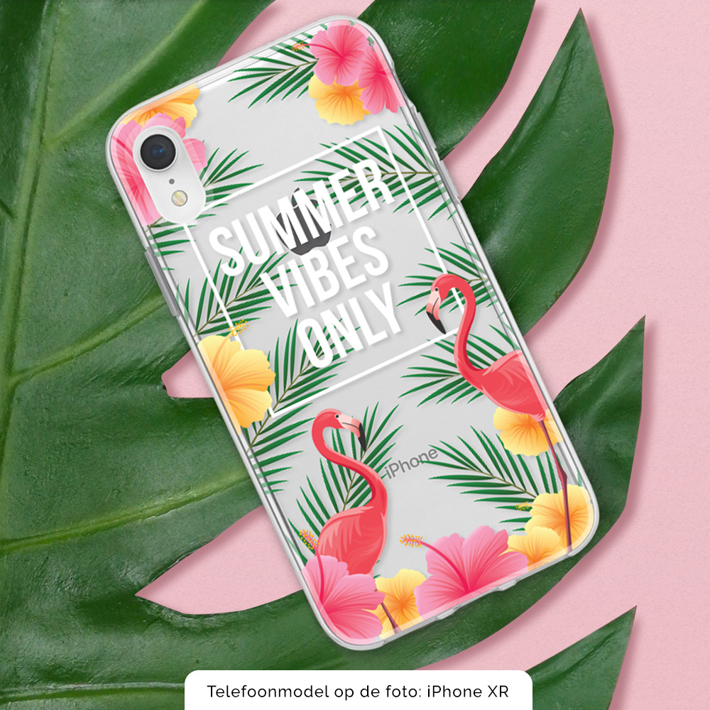 FOONCASE iPhone SE (2020) hoesje TPU Soft Case - Back Cover - Summer Vibes Only