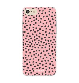 FOONCASE iPhone SE (2020) - POLKA COLLECTION / Roze