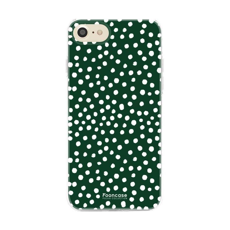 FOONCASE iPhone SE (2020) Case - POLKA COLLECTION / Dark green