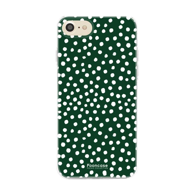 FOONCASE iPhone SE (2020) - POLKA COLLECTION / Dunkelgrün
