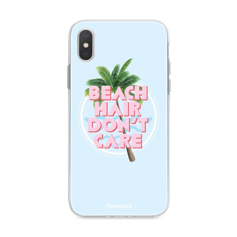 FOONCASE IPhone X Case - Beach Hair Don't Care