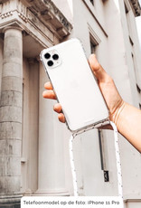 FOONCASE FESTICASE Samsung Galaxy A50 Telefoonhoesje met koord (Wit) TPU Soft Case - Transparant