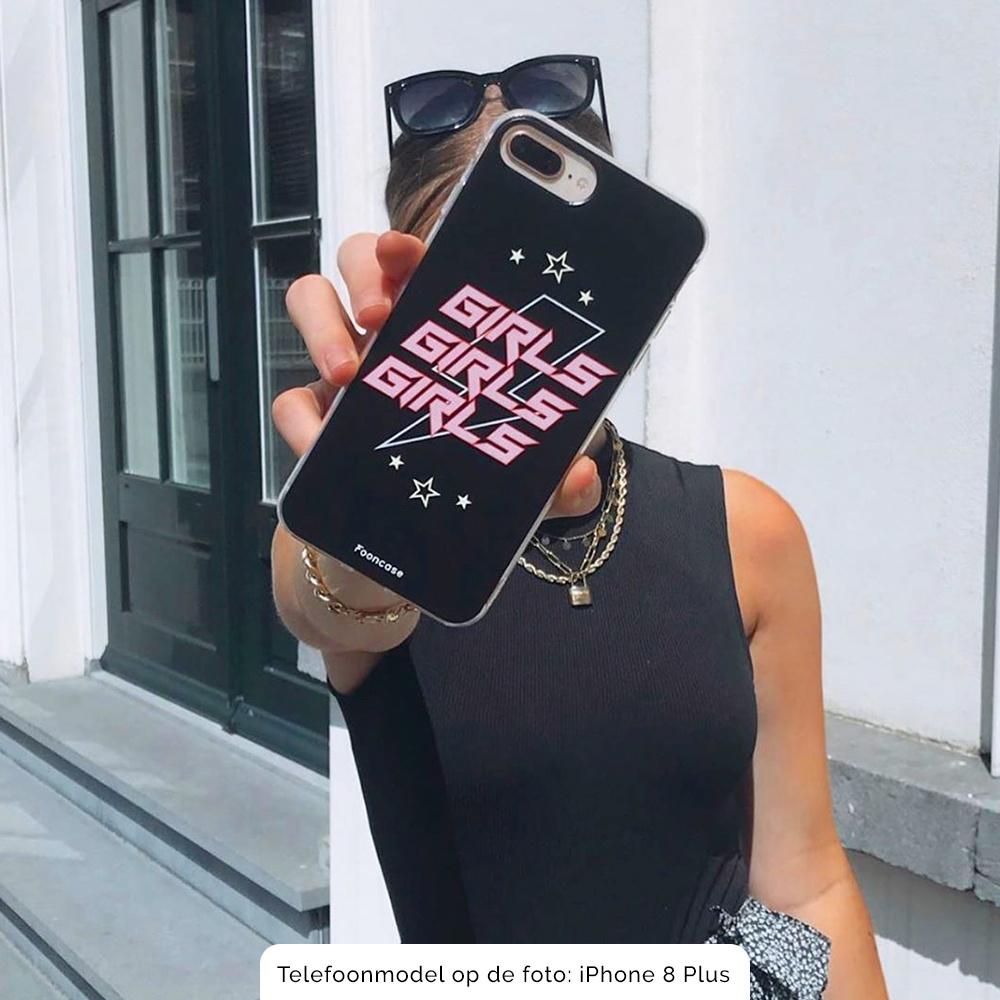 iPhone SE (2020) hoesje TPU Soft Case - Back Cover - Rebell Girls (sterretjes bliksem girls)