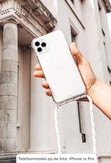 FOONCASE FESTICASE iPhone SE (2020) Telefoonhoesje met koord (Zwart) TPU Soft Case - Transparant