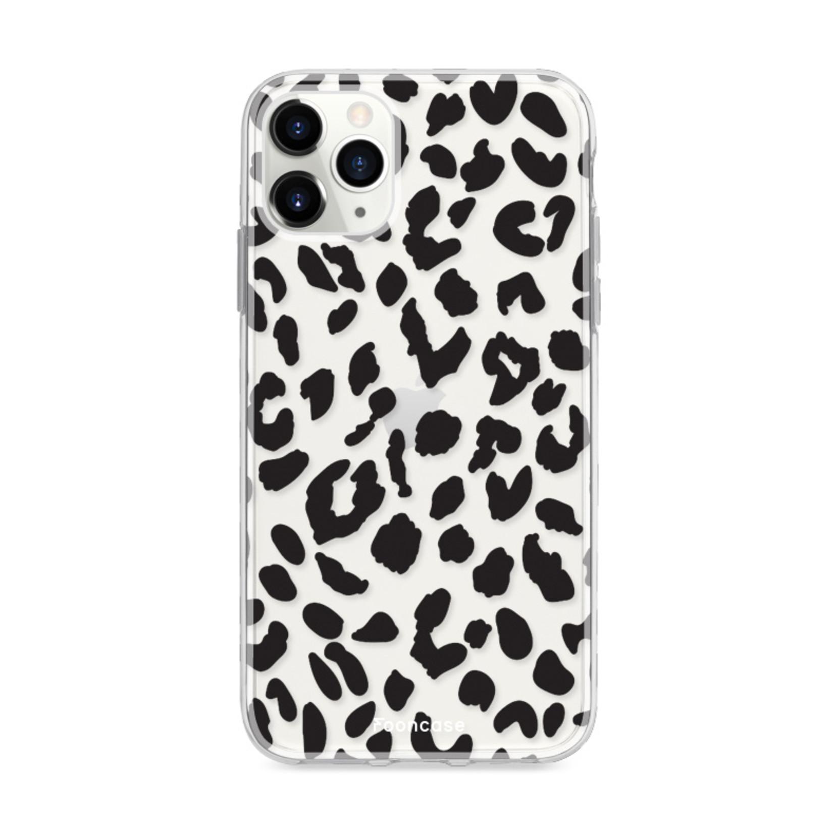 FOONCASE iPhone 12 Pro Max hoesje TPU Soft Case - Back Cover - Luipaard / Leopard print