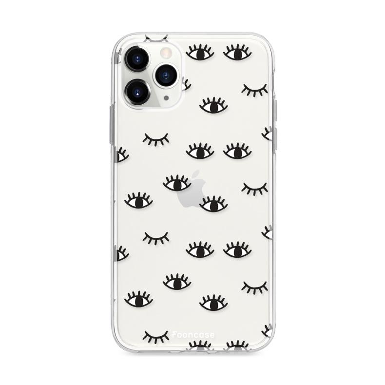 FOONCASE iPhone 12 Pro Max hoesje TPU Soft Case - Back Cover - Eyes / Ogen