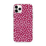 FOONCASE IPhone 12 Pro Max - POLKA COLLECTION / Bordò Rosso