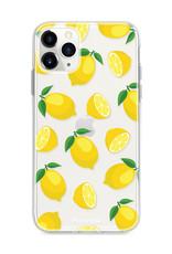 FOONCASE iPhone 12 Pro Max hoesje TPU Soft Case - Back Cover - Lemons / Citroen / Citroentjes