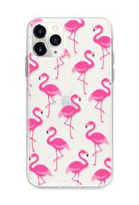 FOONCASE iPhone 12 Pro Max hoesje TPU Soft Case - Back Cover - Flamingo
