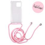 FOONCASE iPhone 12 Pro Max - Festicase Roze (Telefoonhoesje met koord)