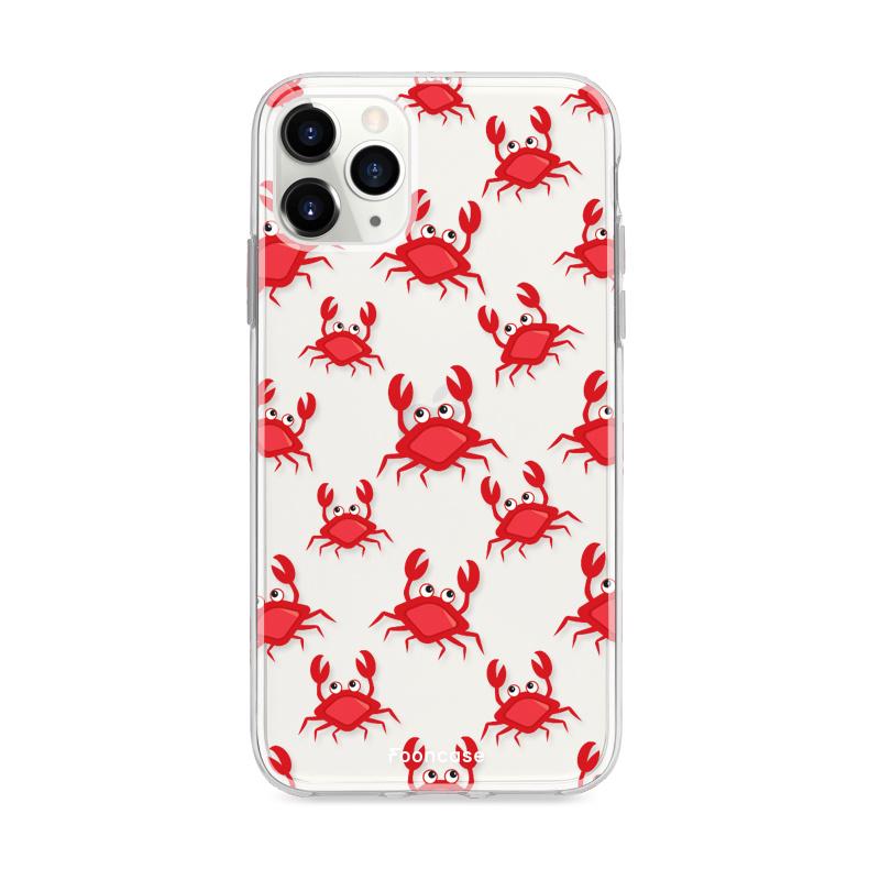 FOONCASE iPhone 12 Pro hoesje TPU Soft Case - Back Cover - Crabs / Krabbetjes / Krabben