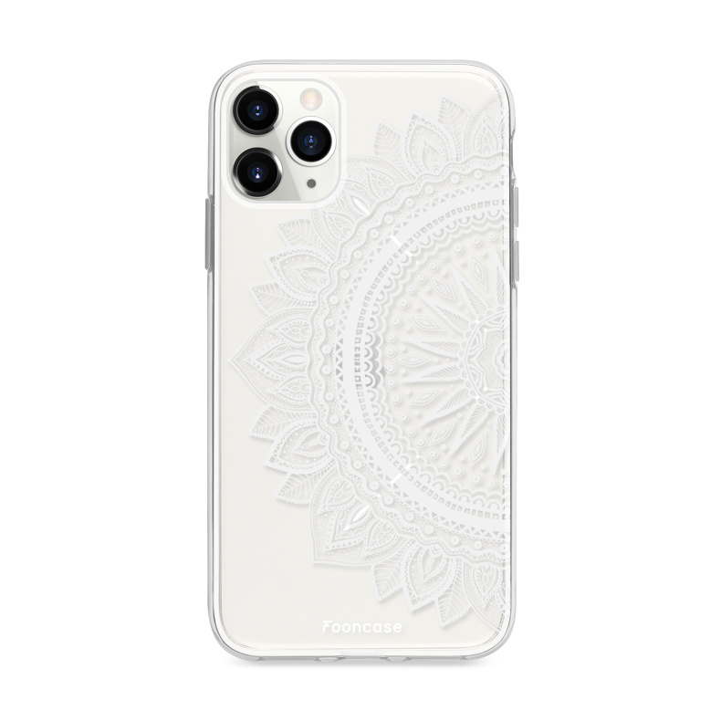 FOONCASE iPhone 12 Pro hoesje TPU Soft Case - Back Cover - Mandala / Ibiza
