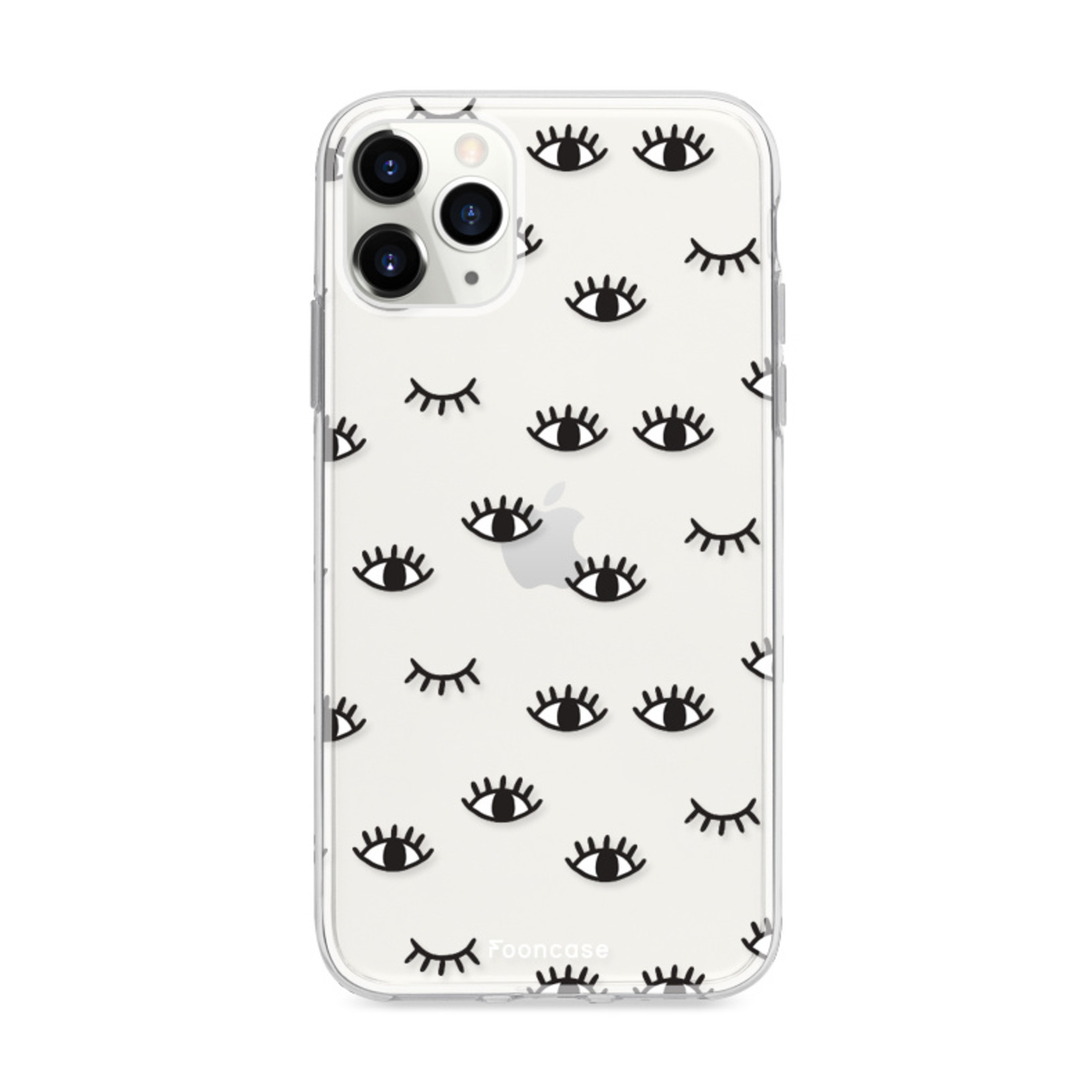FOONCASE iPhone 12 Pro hoesje TPU Soft Case - Back Cover - Eyes / Ogen