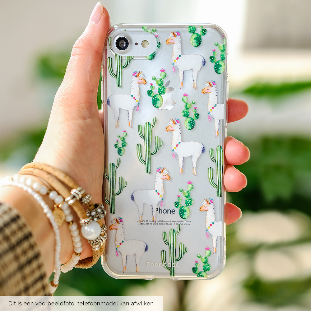 FOONCASE iPhone 12 Pro hoesje TPU Soft Case - Back Cover - Alpaca / Lama