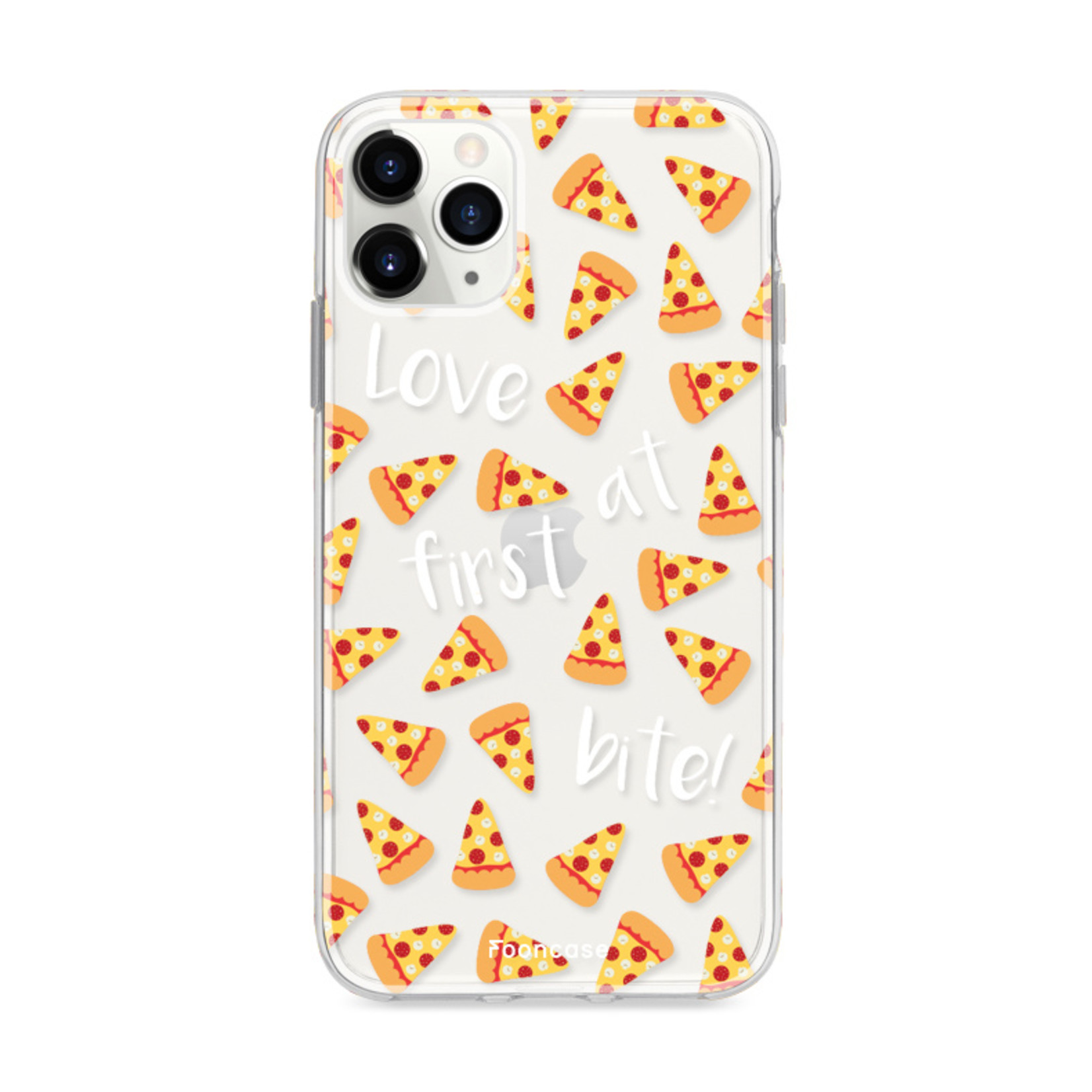 FOONCASE iPhone 12 Pro hoesje TPU Soft Case - Back Cover - Pizza / Food