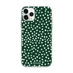 FOONCASE IPhone 12 Pro - POLKA COLLECTION / Dunkelgrün