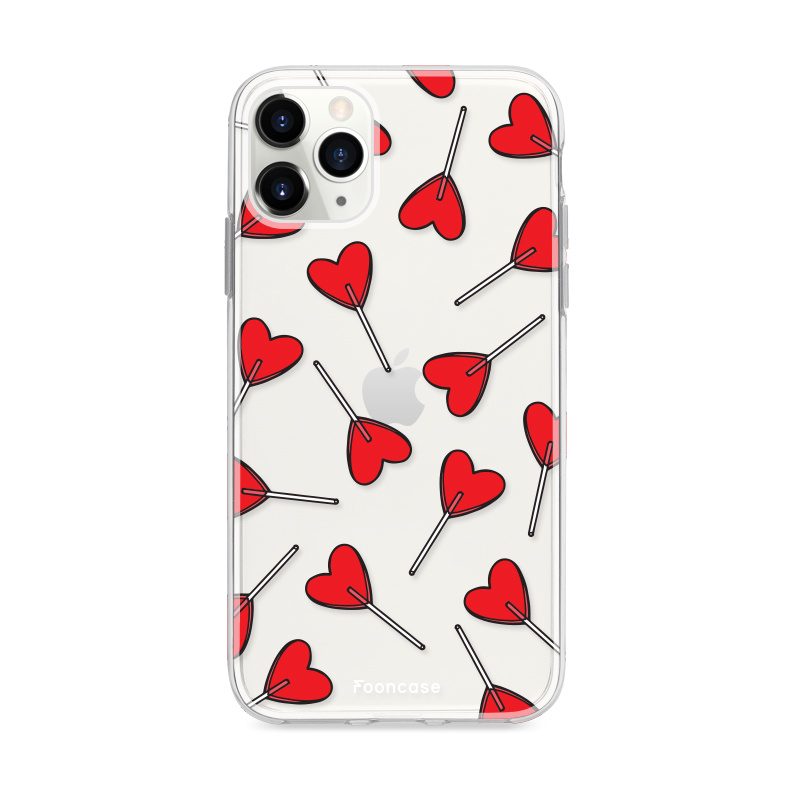 FOONCASE iPhone 12 Pro hoesje TPU Soft Case - Back Cover - Love Pop