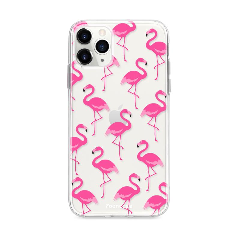 FOONCASE iPhone 12 Pro hoesje TPU Soft Case - Back Cover - Flamingo
