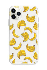 FOONCASE iPhone 12 Pro hoesje TPU Soft Case - Back Cover - Bananas / Banaan / Bananen