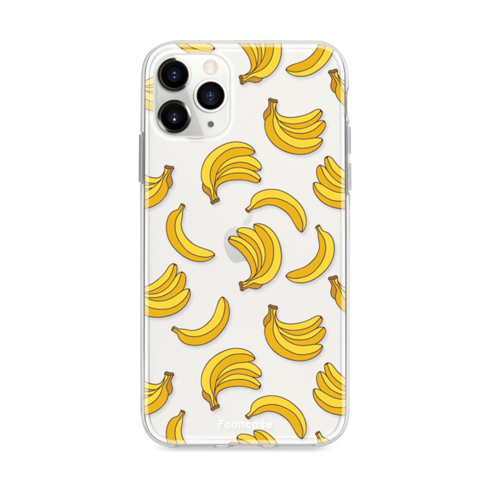 FOONCASE iPhone 12 Pro hoesje TPU Soft Case - Back Cover - Bananas / Banaan / Bananen