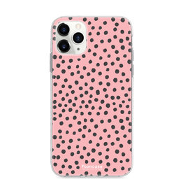 FOONCASE IPhone 12 Pro - POLKA COLLECTION / Roze