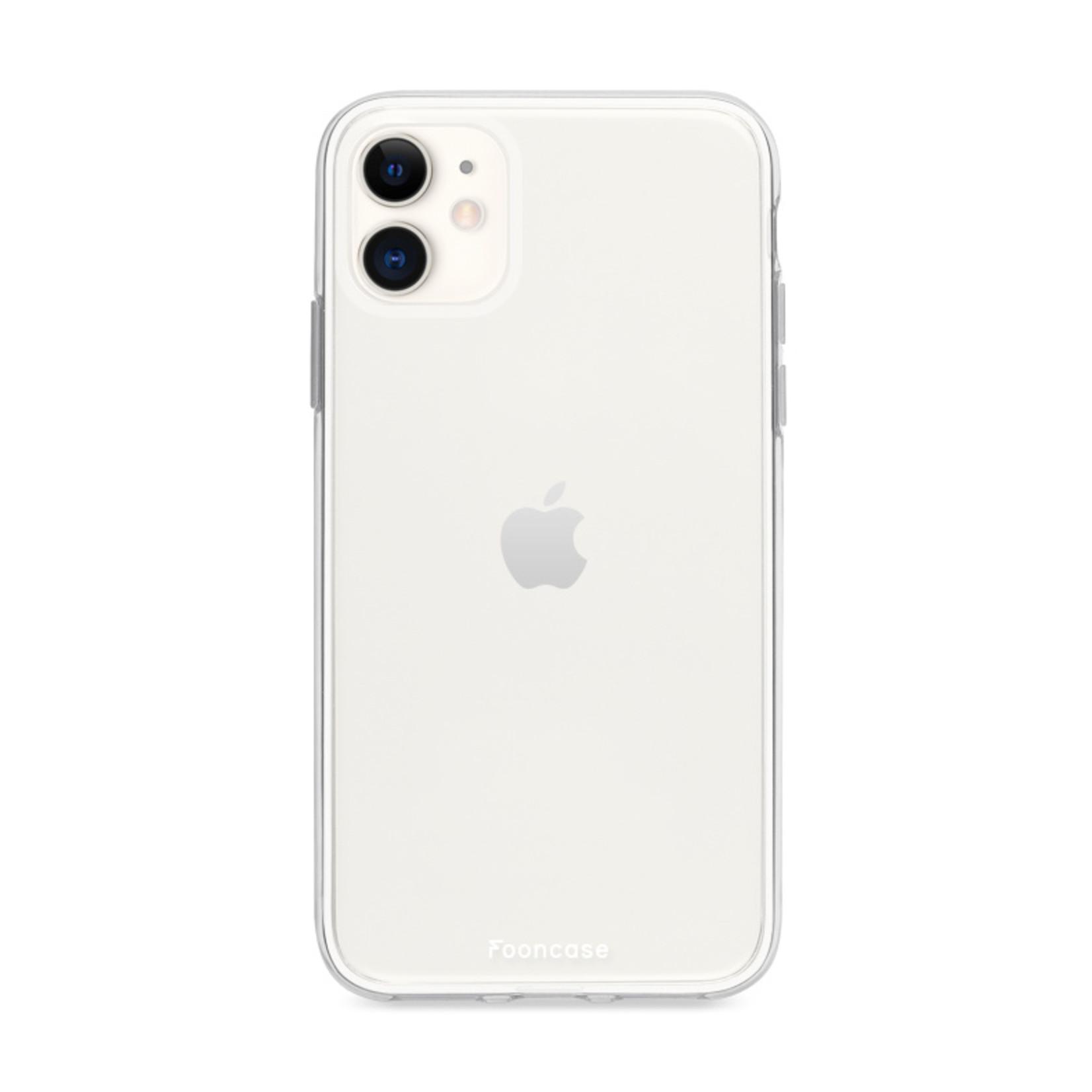 FOONCASE iPhone 12 hoesje TPU Soft Case - Back Cover - Transparant / Doorzichtig