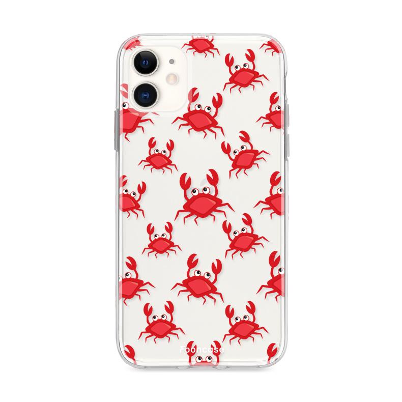 FOONCASE iPhone 12 hoesje TPU Soft Case - Back Cover - Crabs / Krabbetjes / Krabben
