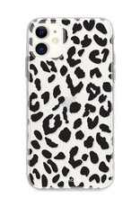 FOONCASE iPhone 12 hoesje TPU Soft Case - Back Cover - Luipaard / Leopard print