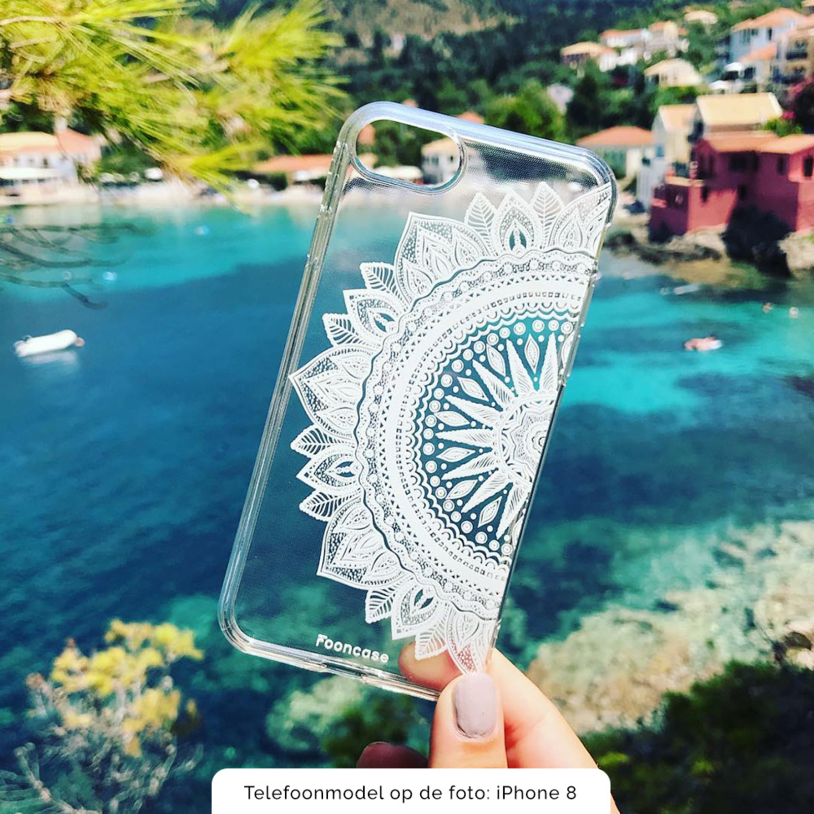 FOONCASE iPhone 12 hoesje TPU Soft Case - Back Cover - Mandala / Ibiza