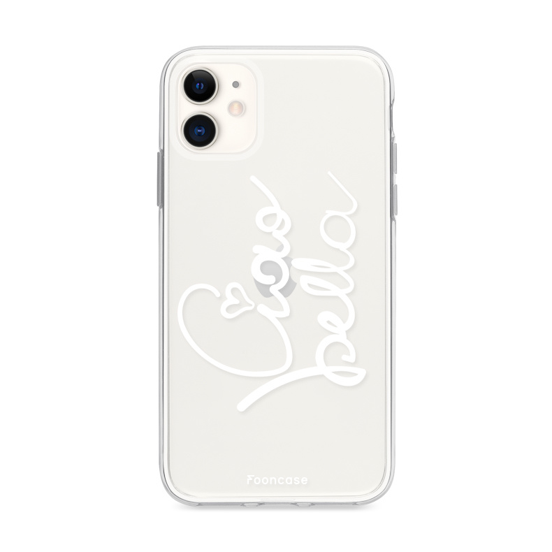 FOONCASE iPhone 12 hoesje TPU Soft Case - Back Cover - Ciao Bella!