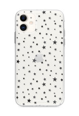 FOONCASE iPhone 12 hoesje TPU Soft Case - Back Cover - Stars / Sterretjes