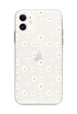 FOONCASE iPhone 12 hoesje TPU Soft Case - Back Cover - Madeliefjes