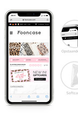 FOONCASE iPhone 12 hoesje TPU Soft Case - Back Cover - Tropical Desire / Bladeren / Roze
